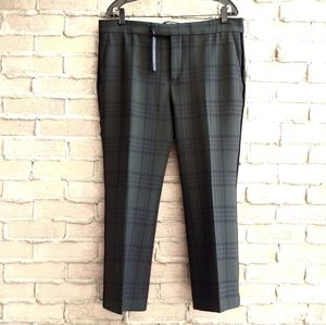NWOT Zara Cropped Plaid Pants